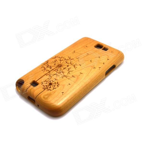 Dandelion Pattern Detachable Protective Wood Back Case for Samsung Galaxy Note 2 N7100 - Wood