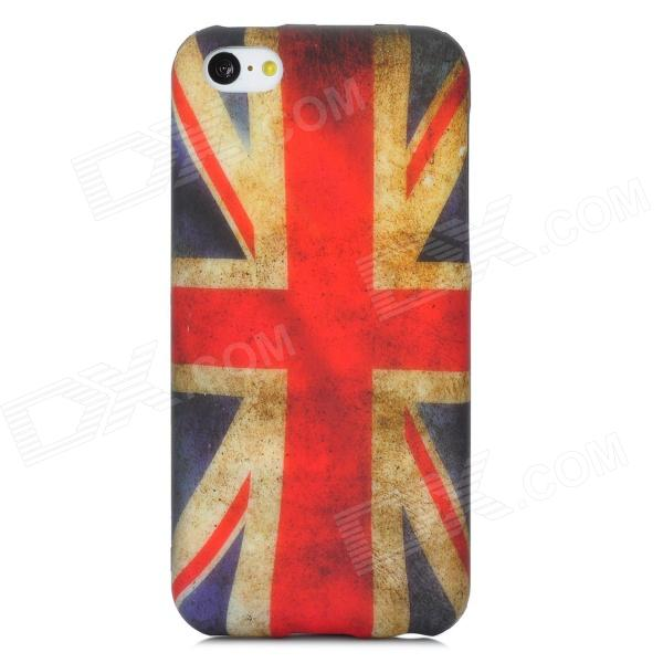 England Pattern Protective TPU Back Case for Iphone 5C - Red + White + Blue holes pattern protective tpu back case for iphone 6 plus 5 5 red