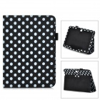 Dot Pattern Protective PU Leather Case Cover Stand for Samsung Galaxy Tab 3 10.1 P5200 - Black