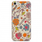 Flowers + Birds Pattern Protective Plastic Back Case for Iphone 5C - Multicolored