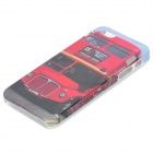 Bus Pattern Protective Plastic Back Case for Iphone 5 - Multicolored