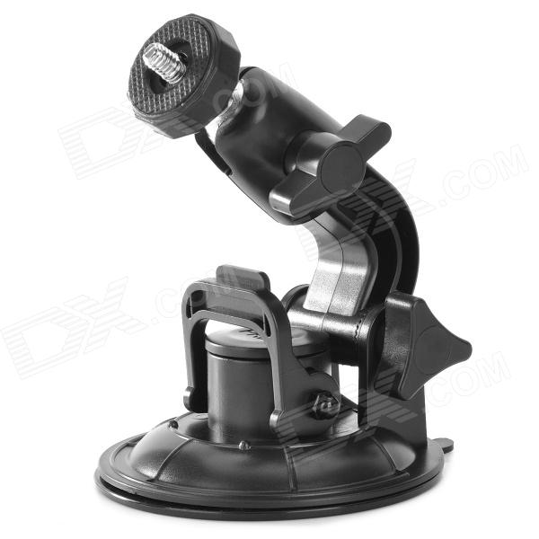 "1/4"" Plastic + Alloy Desktop Stand w/ Suction Cup for Camera - Black"