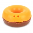LX33309 Doughnut Style Earphone Cable Silicone Winder Organization - Coffee + Light Brown