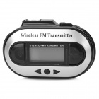 "Wireless 1.2"" LCD Car MP3 Transmitter w/ FM Radio for Iphone / Ipad + More - White + Silver"