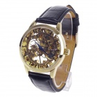 CJIABA High Quality Double-Sided Hollow Automatic Men's Wrist Watch - Black + Golden + Blue