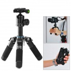 Fotopro M-5 Folding 4-Section Portable Tripod for SLR Camera - Black