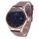 Daybird Women's Quartz Wrist Watch w/ Arabic Numeral Scale / Simple Calendar - Brown + Golden