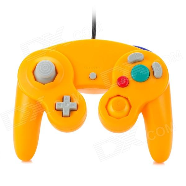 Wired Game Controller for Nintendo GameCube / Wii Console - Orange nintendo gba video game cartridge console card metroid zero mission eng fra deu esp ita language version
