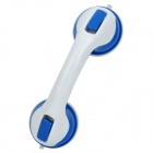 Bathroom Safety Suction Anti-Slip Handrail Handle Grip - Blue + White