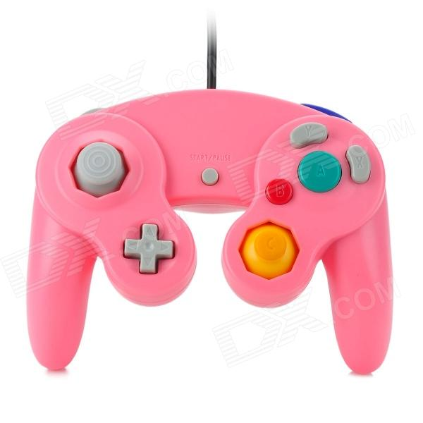 Wired Game Controller for Nintendo GameCube / Wii Console - Pink 2 in 1 wireless remote controller nunchuk control for nintendo wii motion plus game console with silicone case accessories