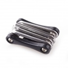 S63-06-2 11-in-1 Stainless Steel Bicycle Repair Kit - Black