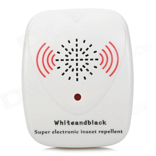 Ultrasonic Pest Insect Mosquito Cockroach Repeller - White (EU Plug)