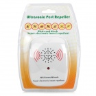 Ultrasonic Pest Repeller Mosquito do inseto da barata - White (Plug UE)