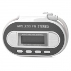 "FM-002 Wireless 1.1"" LCD Car MP3 Transmitter w/ FM Radio for Iphone / Ipad + More - White + Grey"