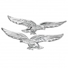 RunDong 3D Eagle Style DIY Car Decorative Sticker - Silver