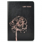 Flower Pattern Protective PU Leather Case Cover Stand for Ipad MINI - Black