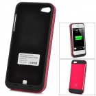 Externe 3000mAh Li-Ionen-Batterie zurück Fall für iPhone 5 - Black + Red