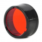 NITECORE NFR25 25.4mm Red Optical Filter for Flashlight - Black + Red