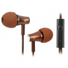 KALAIDENG KE2000 In-ear Earphone for Iphone / Samsung / Sony / HTC - Deep Brown (3.5mm Plug / 130cm)