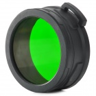 NITECORE NFG60 60mm Green Optical Filter for Flashlight - Black + Green