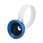 Clip-on 0.67X Wide Angle + Macro Lens for Iphone / Samsung + More - Black + Blue + White