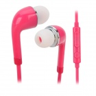 Stylish In-ear Earphone w/ Microphone / Controller for Samsung i9500 / S4 / S3 - Purplish Red