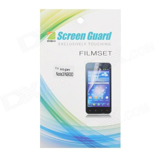 Protective Matte Screen Guard Film for Samsung Galaxy Note 3 N9000 - Transparent