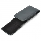 i5-BK-S Protective Top-flip PU Leather Case w/ Clip for Iphone 5 - Black