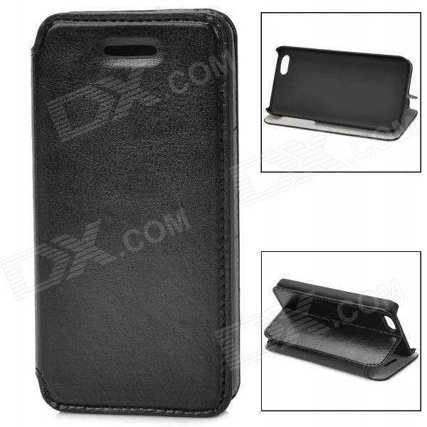 Protective PU Leather Flip-Open Case for Iphone 5C - Black protective pu leather flip open case for iphone 4 4s black