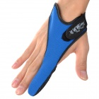 07 Professional Index Finger Breathing Fabric Glove for Fishing - Black + Blue