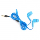 Stylish In-ear Earphone w/ Microphone / Controller for Samsung i9500 / S4 / S3 - Blue