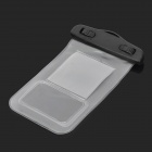 Waterproof Bag Pouch w/ Armband + Neck Strap for Iphone 5 / 5c - Translucent White + Black