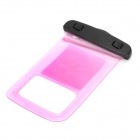 Waterproof Bag Pouch w/ Armband + Neck Strap for Iphone 5 / 5c - Translucent Pink + Black
