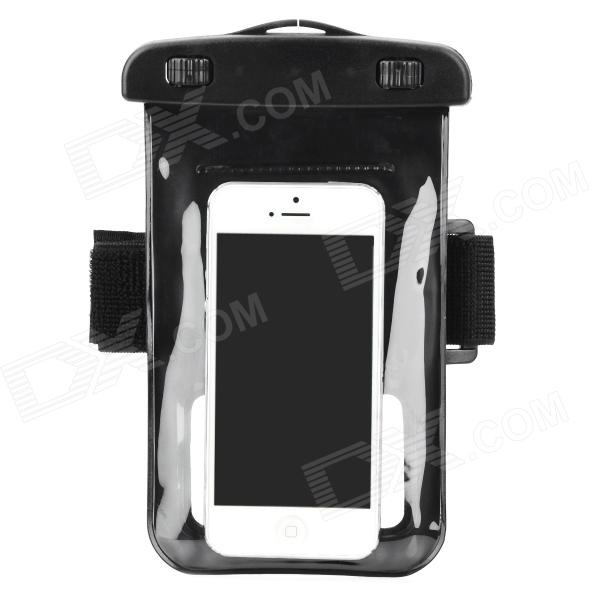 Waterproof Bag Pouch w/ Armband + Neck Strap for Iphone 5 / 5c - Black waterproof bag pouch w compass armband neck strap for iphone 5 4 4s camouflage green page 1