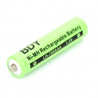 BDY Rechargeable 1.2V 750mAh Ni-MH AAA Batteries - Light Green (4 PCS)