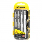 R'DEER RT-M108 Carbon Steel 8-in-1 Carving Tools Set - Silver