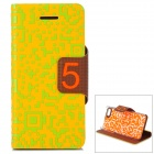 Protective PU Leather Case Cover for Iphone 5C - Yellow
