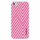 Kuzoom K20B0501 Herringbone Pattern PC Protective Back Case for Iphone 5 - Red + Transparent