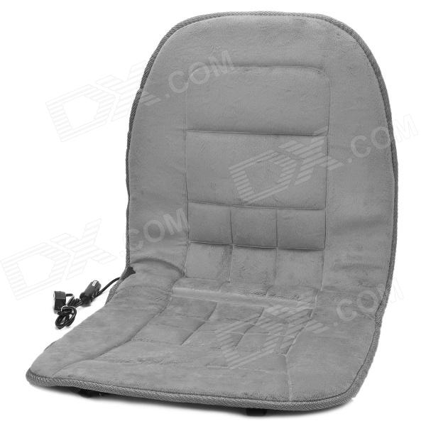 Thicken Plush Car 2-Mode Heating Pad / Cushion - Grey (DC 12V)