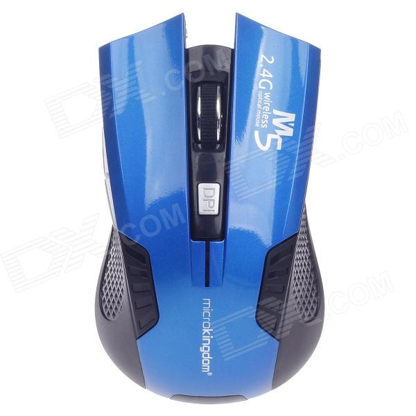 Microkingdom M5 Vogue 2.4GHz Wireless Optical Mouse - Blau + Schwarz (2 x AAA)