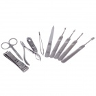 JDM CY-D1 10-in-1  High Grade Stainless Steel Nail Care Manicure Set - Silver