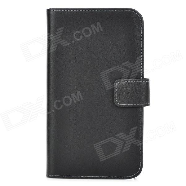 Protective Flip Case w/ Card Slot for Samsung Galaxy Note 3 / N9000 / N9005 / N9002 - Black