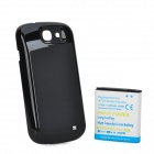 "Thicken 3.7V ""4000mAh"" Li-ion Battery + Back Case for Samsung Galaxy Express i8730 - Black + White"