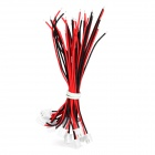 XH-2.54-2P DIY Single Head Terminal Connection Kabel Set - Red + Black + White (20 PCS)