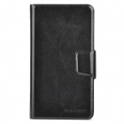 Protective Flip-open PU Leather Case w/ Card Slots for Samsung S4 / i9500 - Black