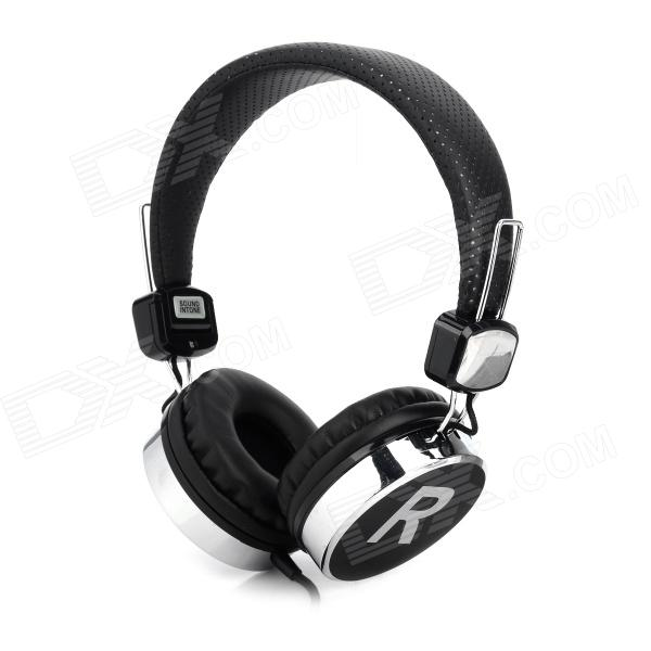 Stylish Bass Headphones w/ Microphone for Iphone 4 / 4S / 5 / Samsung - Black (3.5mm Plug / 1.4m) stylish headset w microphone volume control for dell mini 5 streak 3 5mm jack 120cm cable
