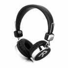 Stylish Bass Headphones w/ Microphone for Iphone 4 / 4S / 5 / Samsung - Black (3.5mm Plug / 1.4m)