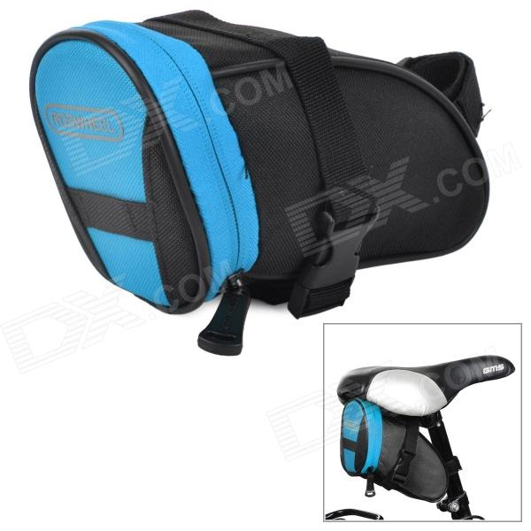 ROSWHEEL 13656 Stylish Handy 600 Dacron + PVC Tail Bag for Bike - Black + Blue
