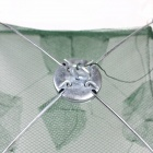 Folding Portable Shrimp Cage - Green + Silver