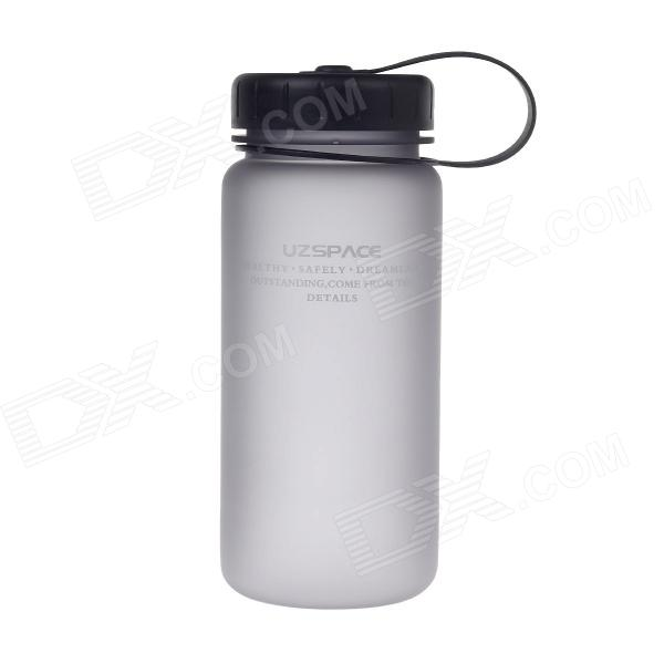 UZSPACE High-Quality Leak-Proof Frosted Colorful Bottle with Filter Cover - Black (550mL)